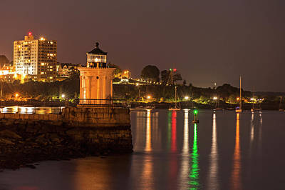 Photograph - Bug Light At Night Bug Light Park Portland Maine by Toby McGuire