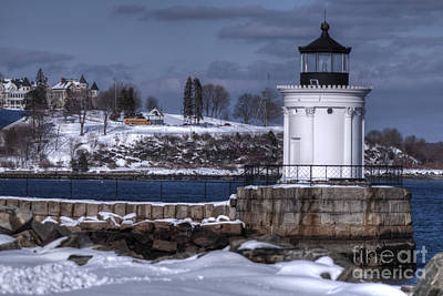 Bug Light In Winter Art Print by David Bishop