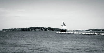 Photograph - Bug Light Lighthouse Black And White by Debra Forand