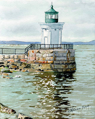 Painting - Bug Light Portland Maine by LeAnne Sowa