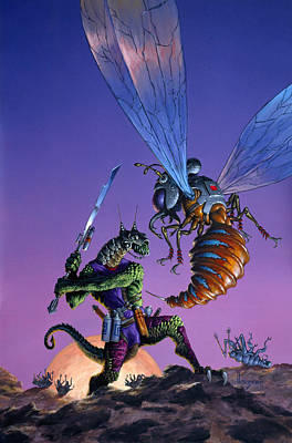 Barbarian Painting - Bug Wars by Richard Hescox