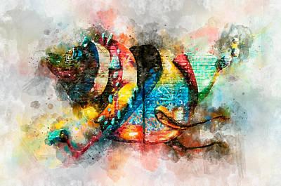 Photograph - Bug Watercolor by Michael Colgate