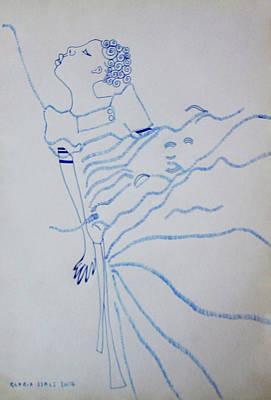 Kiganda Drawing - Buganda Lady - Uganda by Gloria Ssali