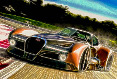 Photograph - Bugatti Atlantique Concept Car - Doc Braham - All Rights Reserved by Doc Braham