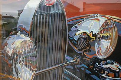 Bugatti Art Print by Dennis Curry