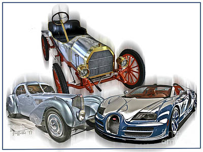 Photograph - Bugatti Evolution by Tom Griffithe