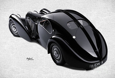 Bugatti  Art Print by Garland Johnson