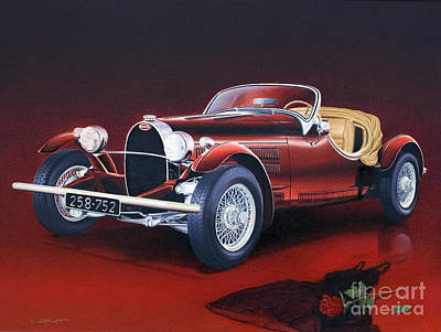 Painting - Bugatti. Italian Exotic Car by Miki Karni
