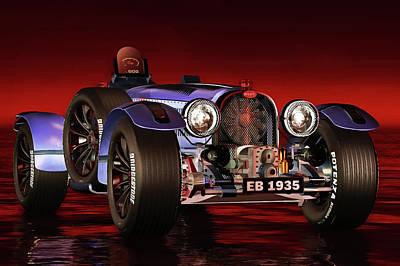 Painting - Bugatti Type 33 by Jan Keteleer
