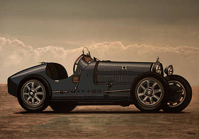 Mixed Media - Bugatti Type 35 1924 Mixed Media by Paul Meijering
