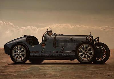 Transportation Mixed Media - Bugatti Type 35 1924 Mixed Media by Paul Meijering