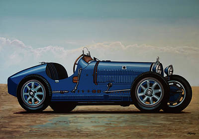 Painting - Bugatti Type 35 1924 Painting by Paul Meijering