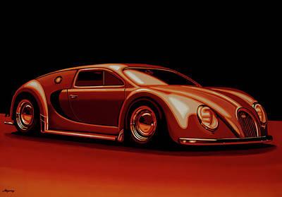 Lamborghini Wall Art - Painting - Bugatti Veyron 'beetgatti' 1945 Painting by Paul Meijering