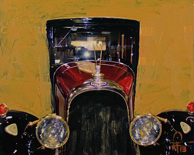 Photograph - Bugatti Vintage Maroon by Walter Fahmy