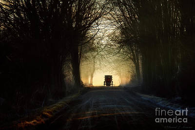 Photograph - Buggy On Tree Lined Road Horizontal by David Arment