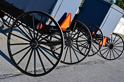 Photograph - Buggy Parking Lot by Tana Reiff