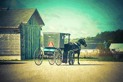 Art Print featuring the photograph Buggy Ride by Joel Witmeyer