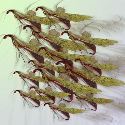 Wall Art - Digital Art - Swarm by Warren Lynn