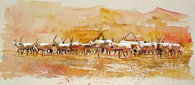 Buharan Oryx Art Print by Mike Shepley DA Edin