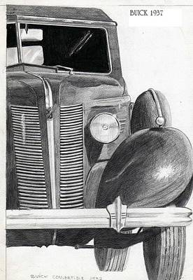 Buick Drawing - Buick 1937 by Alberto Schlossberg