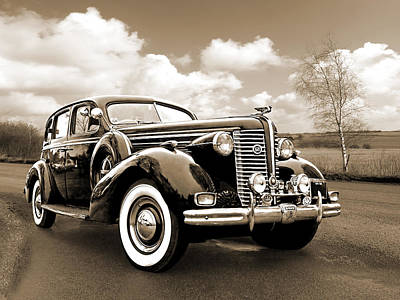 Photograph - Buick 8 1938 Sedan In Sepia by Gill Billington
