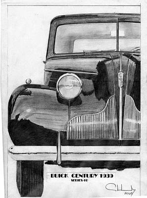 Buick Drawing - Buick Century 1939 by Alberto Schlossberg
