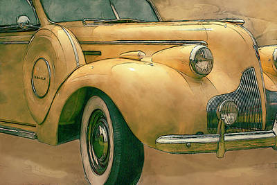 Manipulation Mixed Media - Buick Classic by Jack Zulli