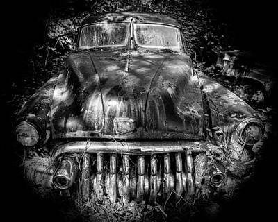 Photograph - Buick Eight In Shadow by Alan Raasch