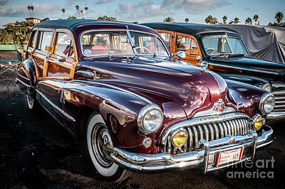 Photograph - Buick Eight Woodie by David Levin