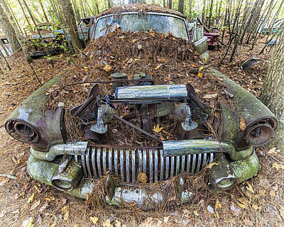 Photograph - Buick In Decay by Alan Raasch