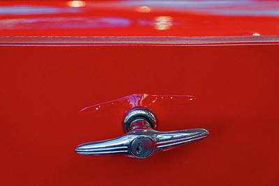 Photograph - Buick Lasalle Trunk Handle by Stuart Litoff