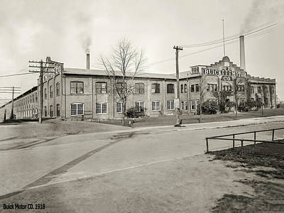 Photograph - Buick Motor Company 1918 by LeeAnn McLaneGoetz McLaneGoetzStudioLLCcom