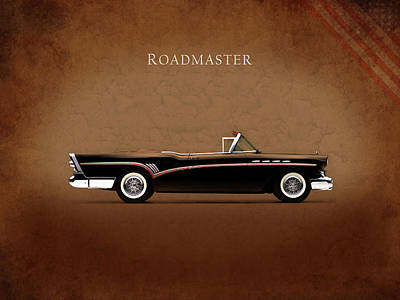 American Cars Photograph - Buick Roadmaster 1957 by Mark Rogan