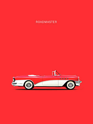 American Cars Photograph - Buick Roadmaster 55 by Mark Rogan