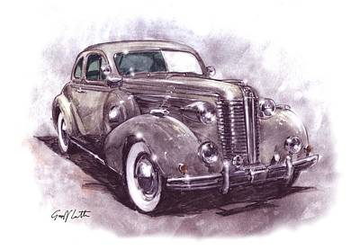 Gm Painting - Buick Roadmaster by Geoff Latter
