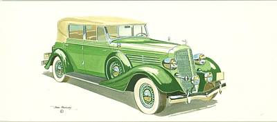 Buick Series 60 1935 Art Print by John Kinsley