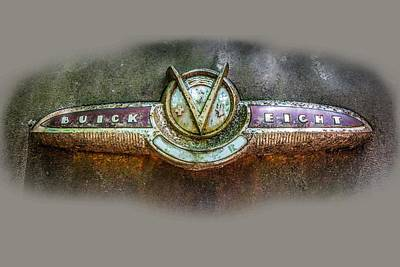 Photograph - Buick Super Eight Logo by Debra and Dave Vanderlaan