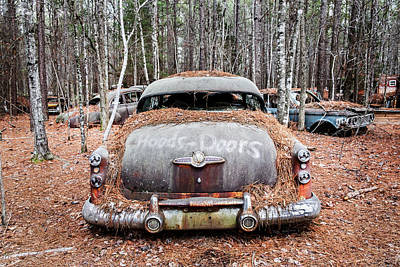 Photograph - Buick V8 Abandoned by Betty Denise