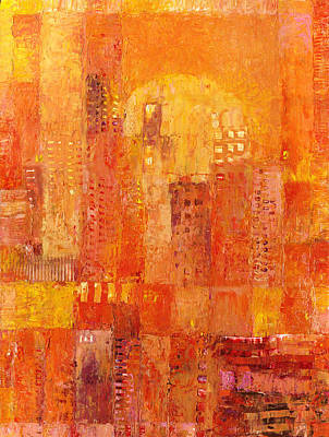 Painting - Built On Orange by Judith Barath