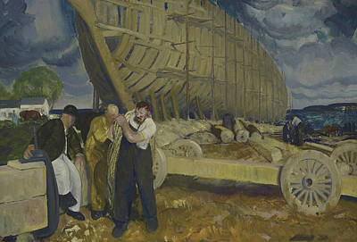 Bellows Wall Art - Painting - Builders Of Ships by George Bellows