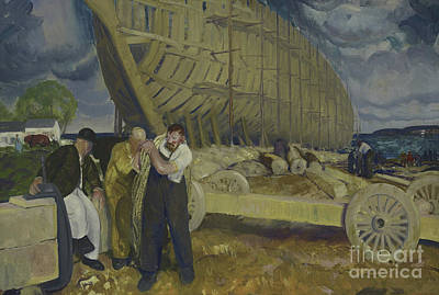 Builders Of Ships Art Print by George Wesley Bellows