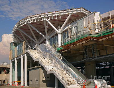 Photograph - Building A New Light Rail Station In Taiwan by Yali Shi