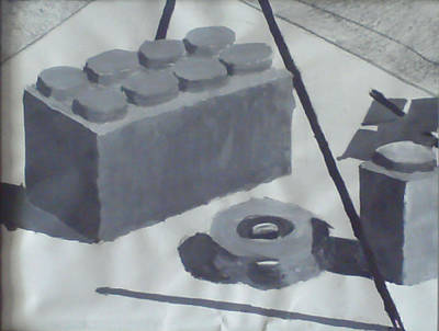 Lego Drawing - Building Blocks by Caleb Snodgrass