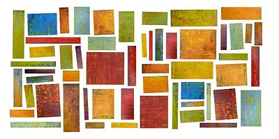 Painting - Building Blocks Compilation Five by Michelle Calkins