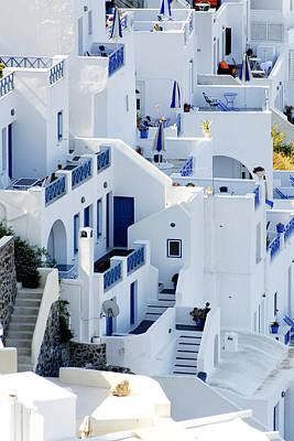 Greece Photograph - Building Blocks -- Greek Houses In Fira, Santorini, Greece by Darin Volpe
