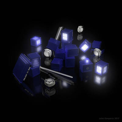 Light Digital Art - Building Blocks Of Space Time Travel by Jules Gompertz