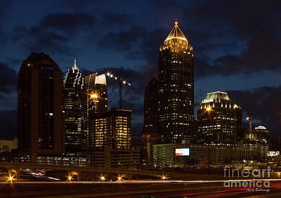 Art Print featuring the photograph Building Boom Midtown Atlanta Construction Art by Reid Callaway