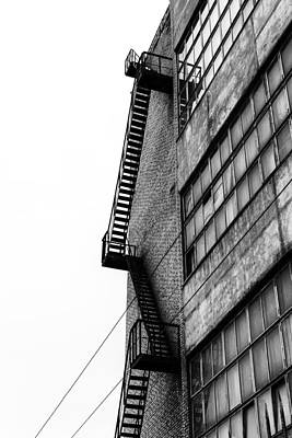 Photograph - Building Fire Exit Architecture Abstract by John Williams