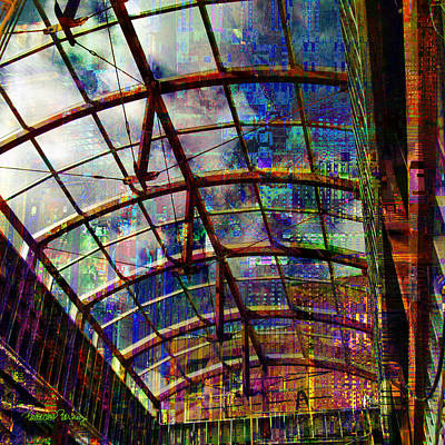 Digital Art - Building For The Future by Barbara Berney