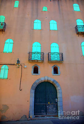 Photograph - Building History Collioure France  by Chuck Kuhn